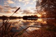 Sunset At A Twyford Lake