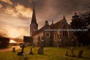 Sunset At St Matthews Church In Midgham